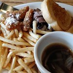 O'Rorke's French Dip sandwich with fries
