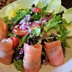 Salmon Salad $15.75 Their salmon is really delish and well worth to order this salad!