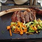 Tomahawk steak. So tender.