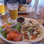 Ahi fish tacos