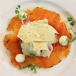Gin Cured Atlantic Salmon with Fennel