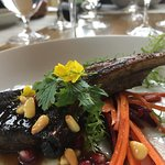 Seared Lamb Chop, Estate Beets & Carrots, Toasted Pine Nuts and Pomengranate