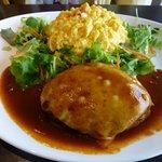 大野ファームCOWCOW VILLAGE⑤ 十勝チーズハンバーグとオムライス