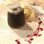 Famous Lava Cake dessert, a gooey-chocolate centre awaits you!