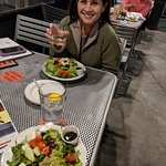 The salad and wine before dinner!