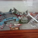 One of the several model displays