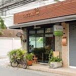 Cafe's shopfront.