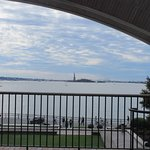 Get to the end of the tip to view the statue of liberty