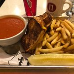 Grilled Cheese on Challah bread with tomato soup