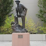 Statue of Bing Crosby on campus
