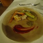 ricciola con verdure