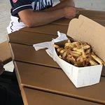 The Family Box of hot, fresh cut fries.