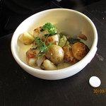 Plat noix de St JAcques dans le menu Wonderbox