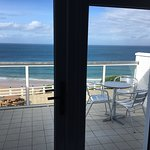 private balcony of seaview room at Royal Court Hotel