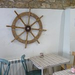 Boat Shed Cafe interior wall