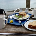 Boat Shed Cafe, sandwiches and coffees
