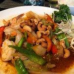 Cashew shrimp with veggies