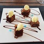 Brownie, sorprendentemente bueno y elegante
