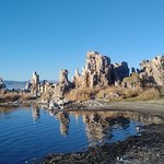 An inlet of tufas at the end of the South Tufa Trail at the Mono Lake Tufa State Natural Reserve