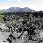 Lava flows ftom the crater