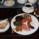 Full Scottish breakfast. Very close to numerous eateries.