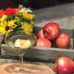 CARAMEL APPLE MARTINI / apple cider, Calvados apple brandy, Butterscotch Schnapps