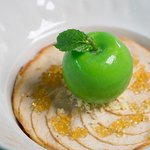 The Apple Tart - Apple declination, lemon butterscotch, caramel-rum gel, Javanese vanilla ice cr (351867297)
