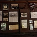 Historical articles about the restaurant in the Lounge