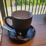 No such thing as a bottomless coffee but this was a big one!