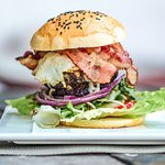 Pork belly burger