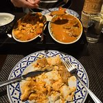 Some of the main dishes we ordered..Pendang Curry - Beef and Chicken