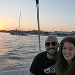 Pôr do Sol em Lisboa no Tejo