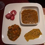 The Dal, the matter paneer and a portion of dal parontha