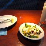Very good salad and colada