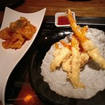 Squid and king prawns