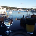 View of the harbor from our table.