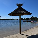 La lagune de l'hôtel