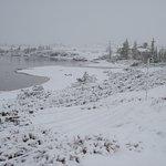 Unexpected snowfall at Tundra camp