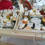 Chariot de fromages affinés