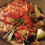 Seared miso salmon