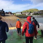Leaving the ferry in Iona