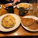 Omelet and pancakes