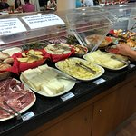 The buffet was disappointing, including the staples like cheese and cured meats.