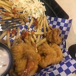 The shrimp and fries that my husband had almost ate then all lol
