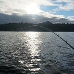 on the water fishing
