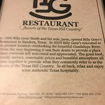 Foto de Billy Gene's Restaurant