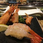 Sushi bar with chef kazu San