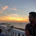 sunset pose