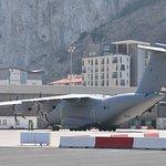 C130 RAF landed before our eyes in Gibraltar