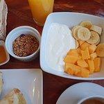 Fruit Bowl with Honey, Yogurt and Granola